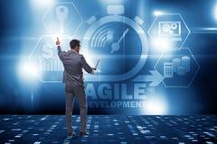 The concept of agile software development. Concept of agile software development Royalty Free Stock Photo