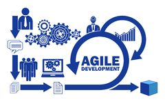 The concept of agile software development. Concept of agile software development stock illustration