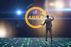 The concept of agile software development. Concept of agile software development Royalty Free Stock Photography