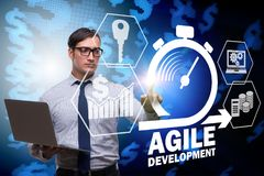 The concept of agile software development. Concept of agile software development Royalty Free Stock Image