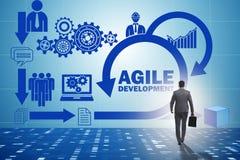 The concept of agile software development. Concept of agile software development Royalty Free Stock Photos