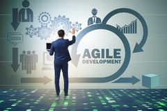 The concept of agile software development Stock Image