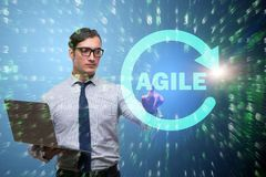 The concept of agile software development Royalty Free Stock Images