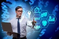 The concept of agile software development. Concept of agile software development Stock Photography