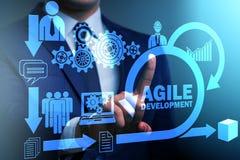 The concept of agile software development. Concept of agile software development stock photo