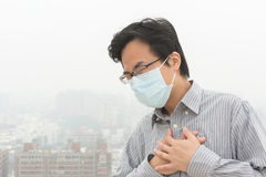 Concept of air pollution royalty free stock image