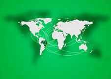Concept air traffic design. Brazilian colors. Vector background Stock Photography