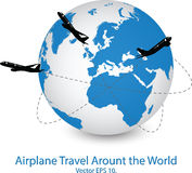 Concept of Airplane, Air Craft Shipping Around the World for Transportation Concept Royalty Free Stock Image