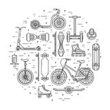 Concept alternatif de transport de ville en cercle illustration stock