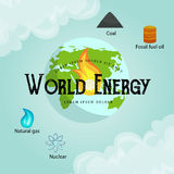Concept of alternative energy green power, environment save, renewable turbine energy, wind and solar ecology Stock Image