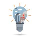 Concept of alternative energy sources Stock Photo