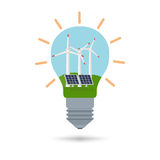 Concept of alternative energy sources Stock Image