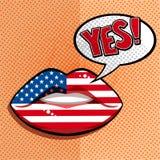 Concept américain anglais de langue Image libre de droits