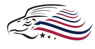 Concept américain d'aigle Photo libre de droits