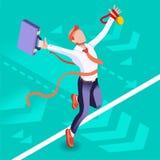 Concept ambitieux de vecteur de Job Ambitions de changement d'affaires Photos stock