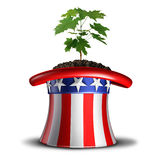 Concept Of American Growth Stock Image