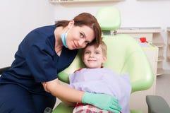 Concept amical de dentiste de femme Photographie stock libre de droits