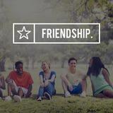 Concept amical de groupe de bande d'amitié d'amis Images stock
