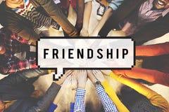 Concept amical de groupe de bande d'amitié d'amis Image stock