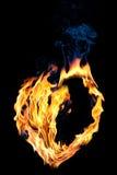 Concept : amour Forme à moitié vide de coeur du feu dessus Image libre de droits