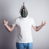 Concept of angry man Royalty Free Stock Images
