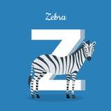 Concept animal d'alphabet dans la conception plate Photos libres de droits