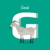 Concept animal d'alphabet dans la conception plate Photo stock
