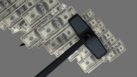 Concept animation, money vacuum cleaner. Concept animation, money vacuum cleaner, Computer generated stock video