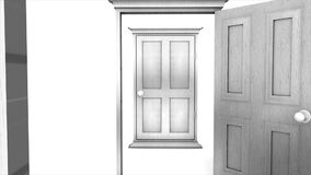 Concept animation multiple door open, background. stock video footage