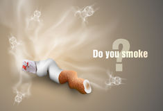 The concept of anti-smoking.cigare tte butts Stock Photography