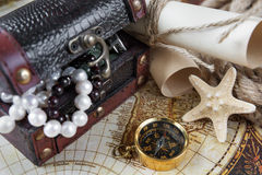 Concept in antique style: adventure Royalty Free Stock Image