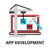 Concept of app development icon. Modern flat editable line design vector illustration, concept of app development icon, for graphic and web design Royalty Free Stock Photos