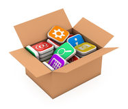 Concept application software storage Stock Images