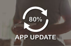 Concept of application update Royalty Free Stock Photography