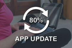 Concept of application update Stock Image