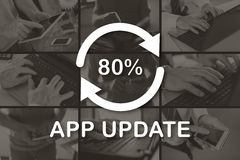 Concept of application update Royalty Free Stock Images