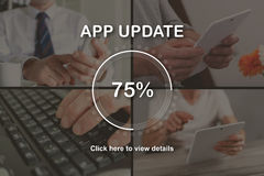 Concept of application update Royalty Free Stock Photo