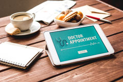 Concept of appointment to doctor online Royalty Free Stock Image