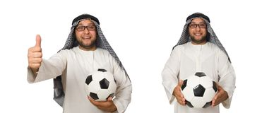 The concept with arab man isolated on white. Concept with arab man isolated on white Royalty Free Stock Photo