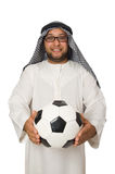 Concept with arab man isolated. On white Stock Photography