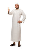 Concept with arab man isolated Royalty Free Stock Images