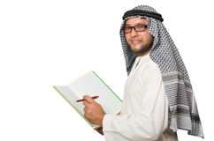 Concept with arab man isolated Stock Photo