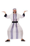 Concept with arab man isolated Stock Photos