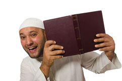 Concept with arab man isolated Royalty Free Stock Photography
