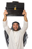 Concept with arab man isolated Stock Images