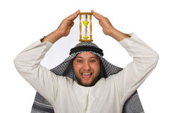 Concept with arab man isolated Royalty Free Stock Image