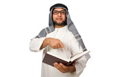 Concept with arab man Royalty Free Stock Photography