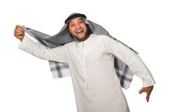 Concept with arab man Royalty Free Stock Photo
