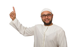Concept with arab man Stock Photo
