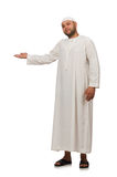 Concept with arab man isolated on white Royalty Free Stock Image